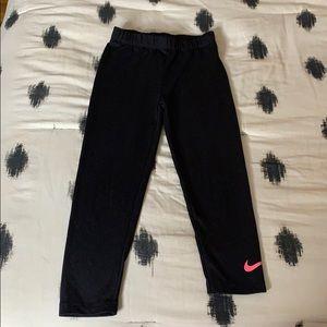 Girls Nike Black Legging w/ Pink Logo
